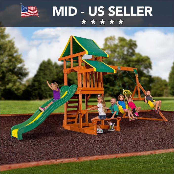 All Wooden Playhouse Swing Set For Sale Classifieds