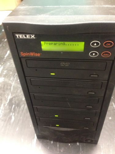Telex SpinWise DVD Duplicator Tower 1 to 5 Drives Stand Alone CD DVD Burner