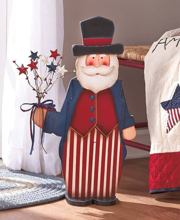 Memorial Day Decorations Indoor Uncle Sam Patriotic Military Independence Day