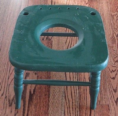 Vintage Rustic Wood Child's Partial Potty Chair ( plant holder ? )