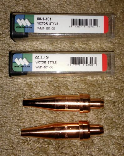 2-WELDMARK Victor Style Torch Cutting Tips, P/N: 00-1-101...NEW!