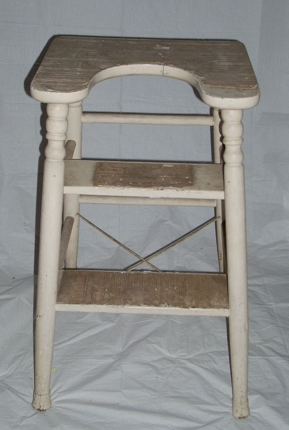 Vintage Wooden Step Ladder Garden Decor