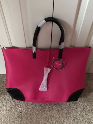 Pink And Black Overnight Bag Sally's Promotional Tote Large Weekend Getaway