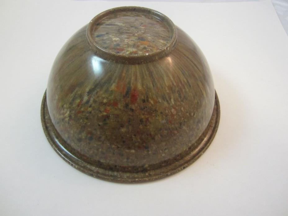 Vintage Texas Ware 125 Large Confetti Splatter Melamine Bowl