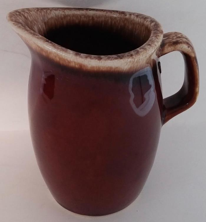 HULL POTTERY BROWN DRIP CREAMER - USA