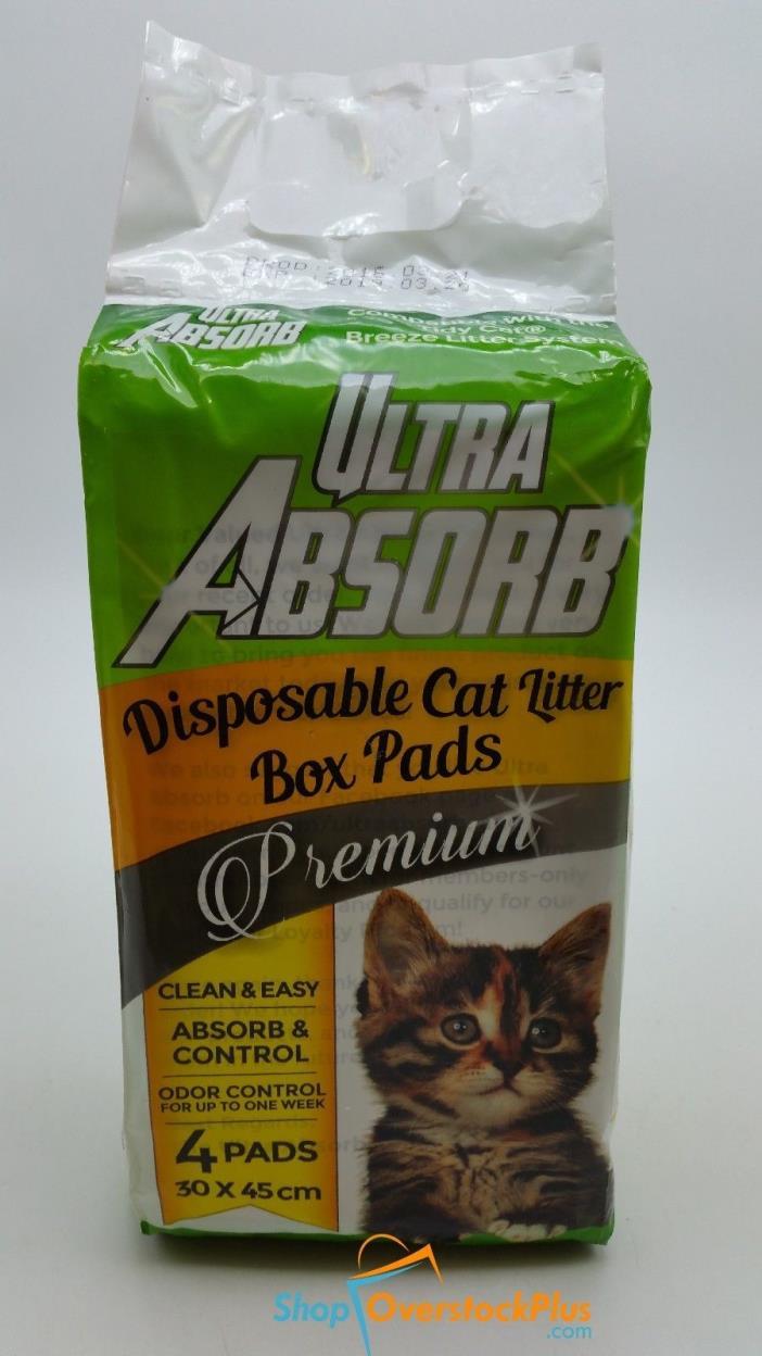 Ultra Absorb Disposable Cat Litter Box Pads,4 Pads (721)