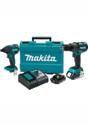 Makita 18v compact lithium-ion Brushless Cordless 2pc. Combo kit XT248R