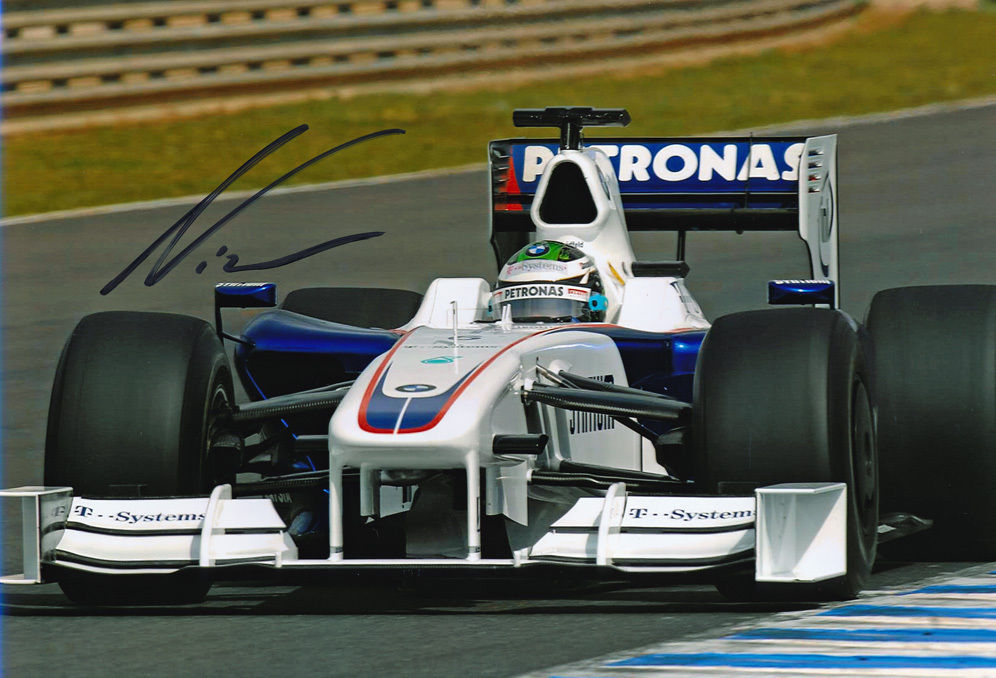 Nick Heidfeld Signed 8X12 inches BMW Sauber F1 2009 Photo