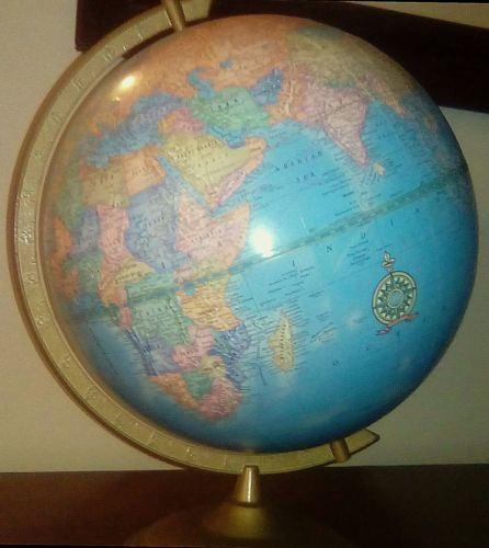 Vintage Cram's IMPERIAL WORLD GLOBE RUSSIA Union of Soviet USSR E/W Germany 12