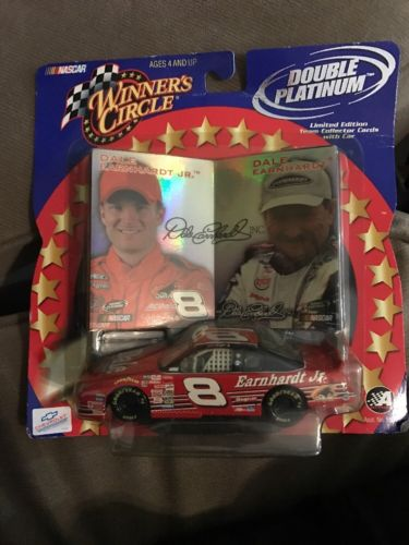 NASCAR 1:43 Diecast Car - Dale Earnhardt Jr & Sr with Holographic Trading Cards