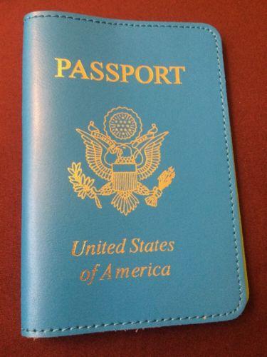 Baekgaard Plaid Passport Holder,USA Passport Cover , Blue And Green
