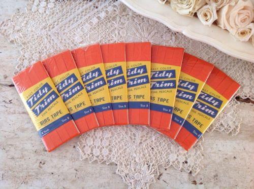 Vintage Tidy Trim Bias Tape Lot Of 8 Packs