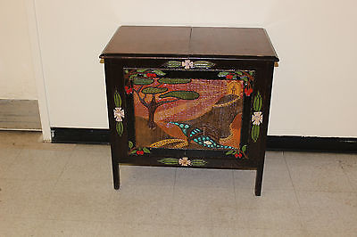 Vintage Sonora Upcycled Cabinet Ornate Carved Landscape