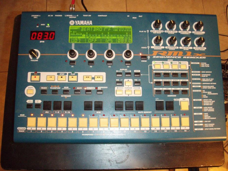 Yamaha RM1X Sequence Remixer Drum Machine - Awesome Filters! Minty! w/orig PSU