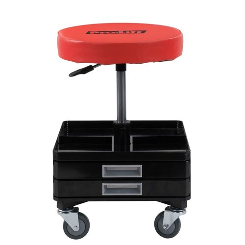 Work Stool With Wheels Creeper Seat Rolling Tool Chest Trays Mechanic Garage