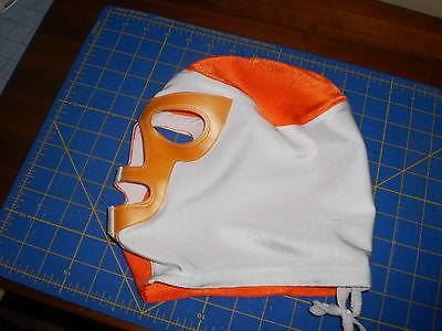 Orange & White Pro Wrestling Mask (PRO-GRADE)