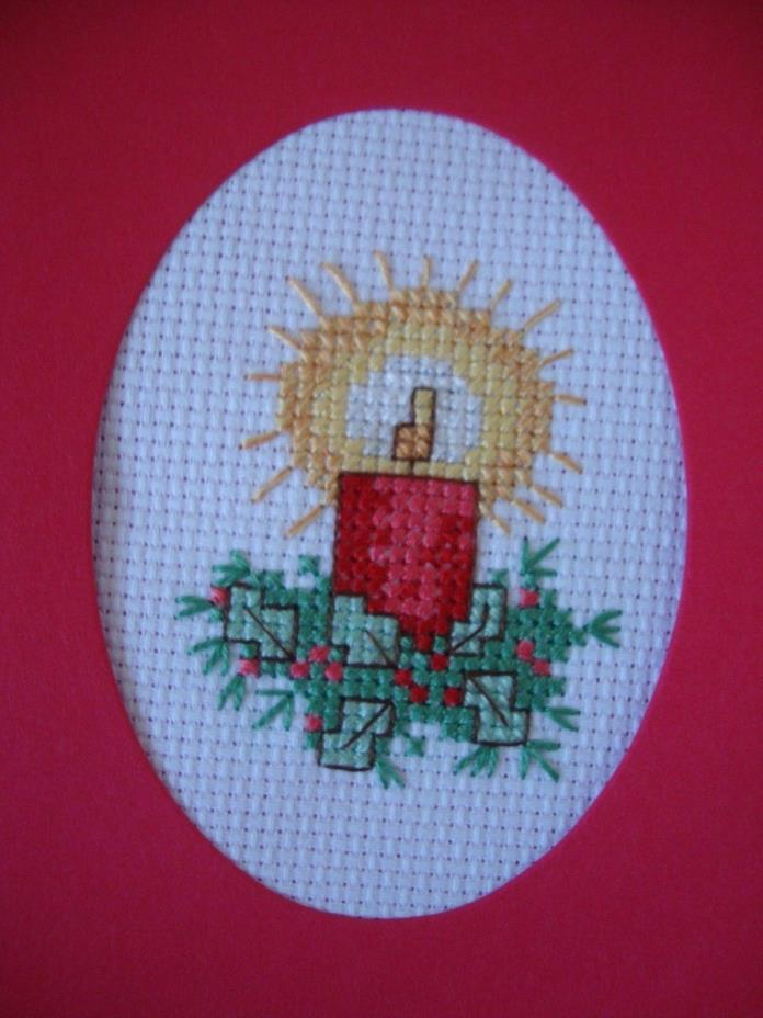COMPLETED FINISHED CROSS STITCH CARD