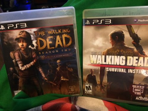 THE WALKING DEAD PS3 GAME LOT SURVIVAL INSTINCT AND WALKING DEAD SEASON 2 TESTED