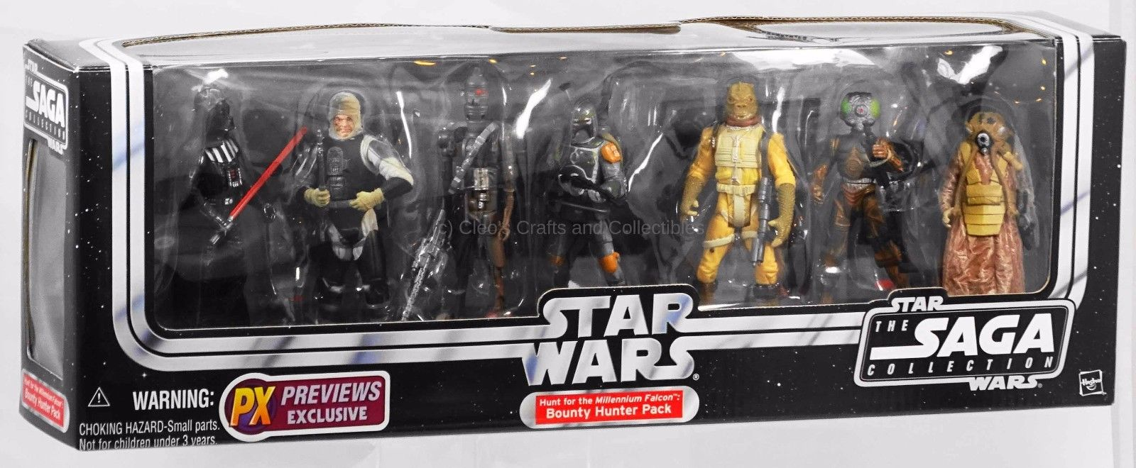 Hunt For Millennium Falcon Star Wars Bounty Hunter 7-Pack PX Previews Exclusive!