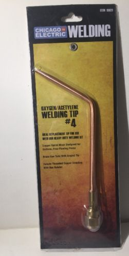 CHICAGO ELECTRIC Replacement Oxygen Acetylene Welding Tip #4 99821 FREE SHIP!