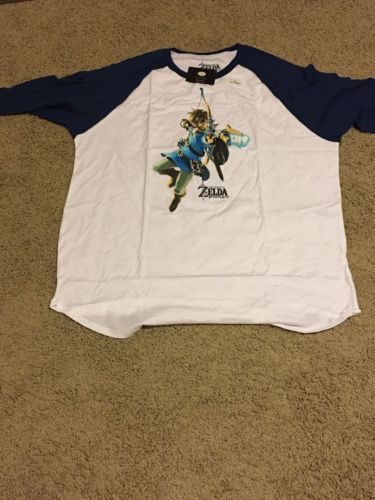 NEW Legend of Zelda: Breath of the Wild Raglan Shirt 3XL XXL - Loot Wear Crate