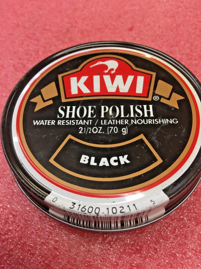 BS8 Old Kiwi Shoe Polish tin metal can Black NO CONTENTS 3.5