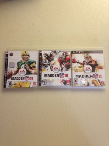 PS3 Games Bundle Madden '09, '10, '11 PlayStation3
