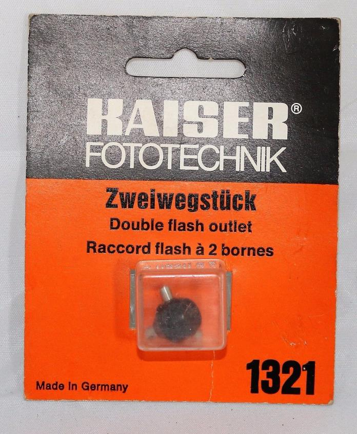 Kaiser 1321 Double Flash Outlet for Cameras - NEW