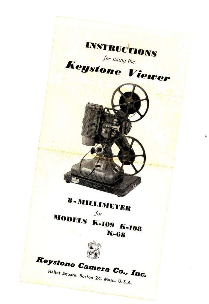 Keystone 8mm Viewer K-109 Projector viewer