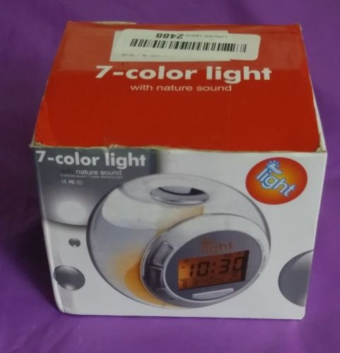 7-Color Light With Nature Sound Clock