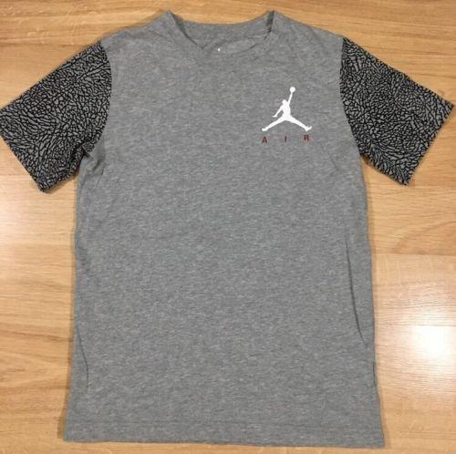 Jordan Shirt Youth Size Large 12-13 Years Gray