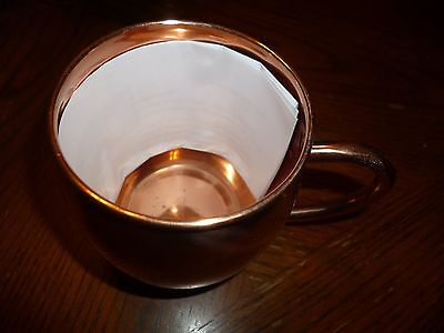 Solid Copper Mug Unlined 100% Pure Copper Moscow Mule Mug