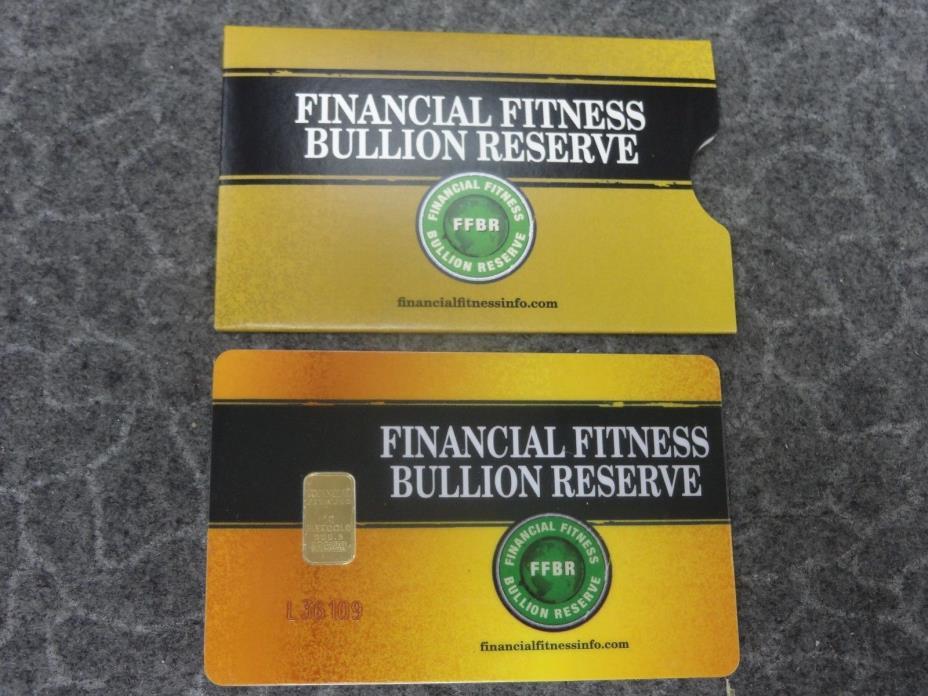 Financial Fitness 1 Gram Gold Bar Bullion Reserve