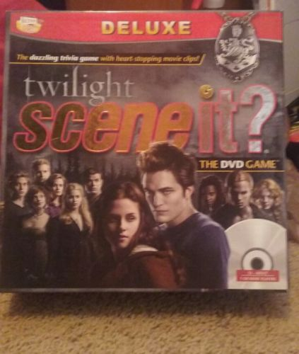 Twilight Saga Movie Scene It Deluxe DVD Trivia Board Game New Factory Sealed