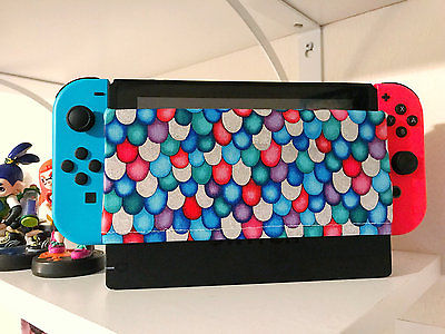 Nintendo Switch Dock Sock Cover Protector Rainbow Fish theme