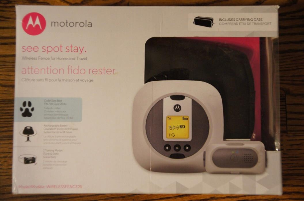 New-Motorola - Wireless Pet Fence System for Home and Travel -WIRELESSFENCE25