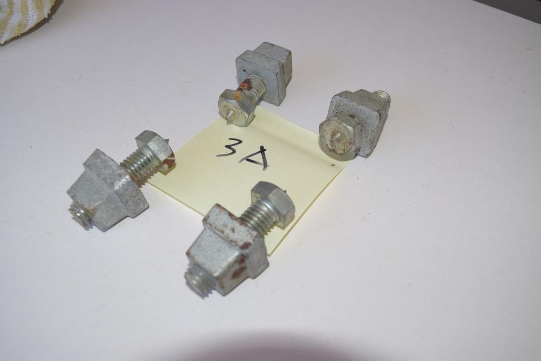 Set of 4 Adjustable Leveler Feet 1 inch Square Cast Iron Vintage Antique Salvage