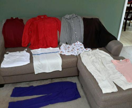 Women's size Medium clothes pants 8 mixed lot of 10 (Bo3glot)