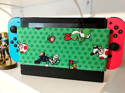 Nintendo Switch Dock Sock Screen Protector Handmade Super Mario Characters