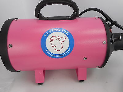 Flying Pig FOSD-PK - High Velocity Dog Pet Stand Grooming Dryer - Pink