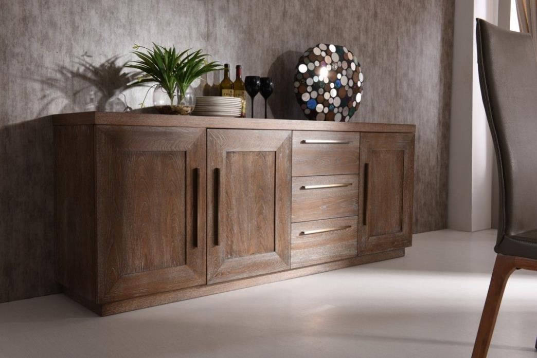 Cornell Modern White Wash Oak Buffet