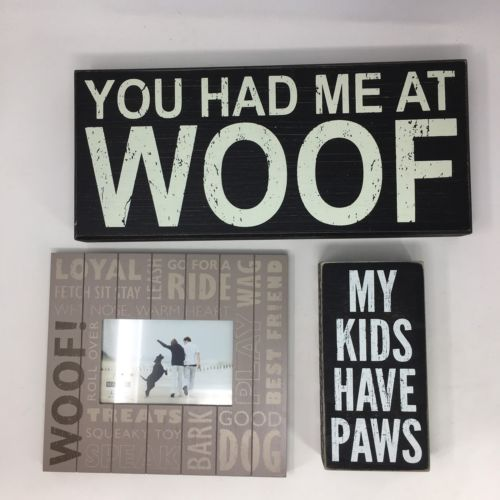 Dog Lovers Lot Picture Frame Decorating Rescue Birthday Gift Puppy Animal Plaque