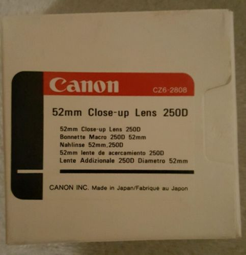 Canon 52mm 250D Close-up Lens