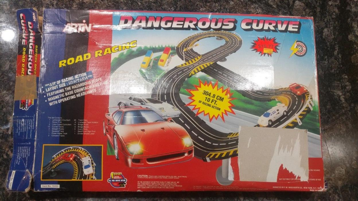Artin slot cars and track
