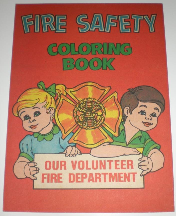 Cayuga NY Volunteer Fire Department 1978 Vintage Coloring Book Safety Fireman