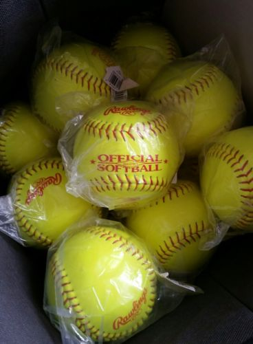 ASA Certified Rawlings Official Softballs DOZEN