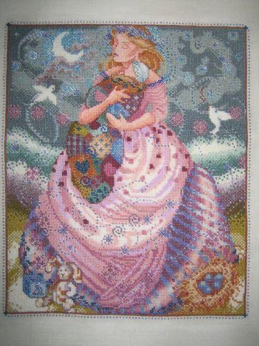 finished cross stitch Mother's Arms Baby Nora Corbett Nursery Art