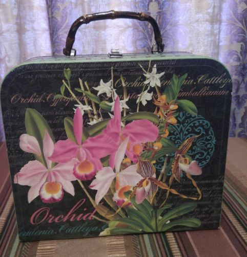 punch studio case photos knick knacks jewelry box storage tote orchids