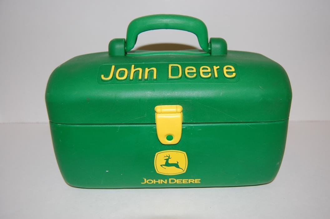 Vintage John Deere Hard Plastic Green toy tool box