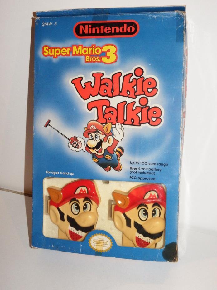 vintage Nintendo SUPER MARIO BROS 3 Walkie Talkie toy set unused NES